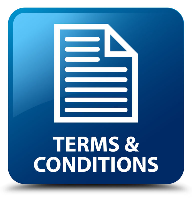 Terms and conditions (page icon) isolated on blue square button abstract illustration